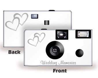10 Cameras Coupled Hearts Wedding Disposable Camera FUJI Color Film W Flash