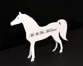 5 Horse Escort/ Place Cards