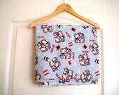 Nautical cotton fabric xlarge breadth