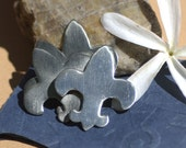 Nickel Silver Fleur de Lis 30mm x 27mm 24g Blank Cutout for Metalworking Stamping Texturing Blanks