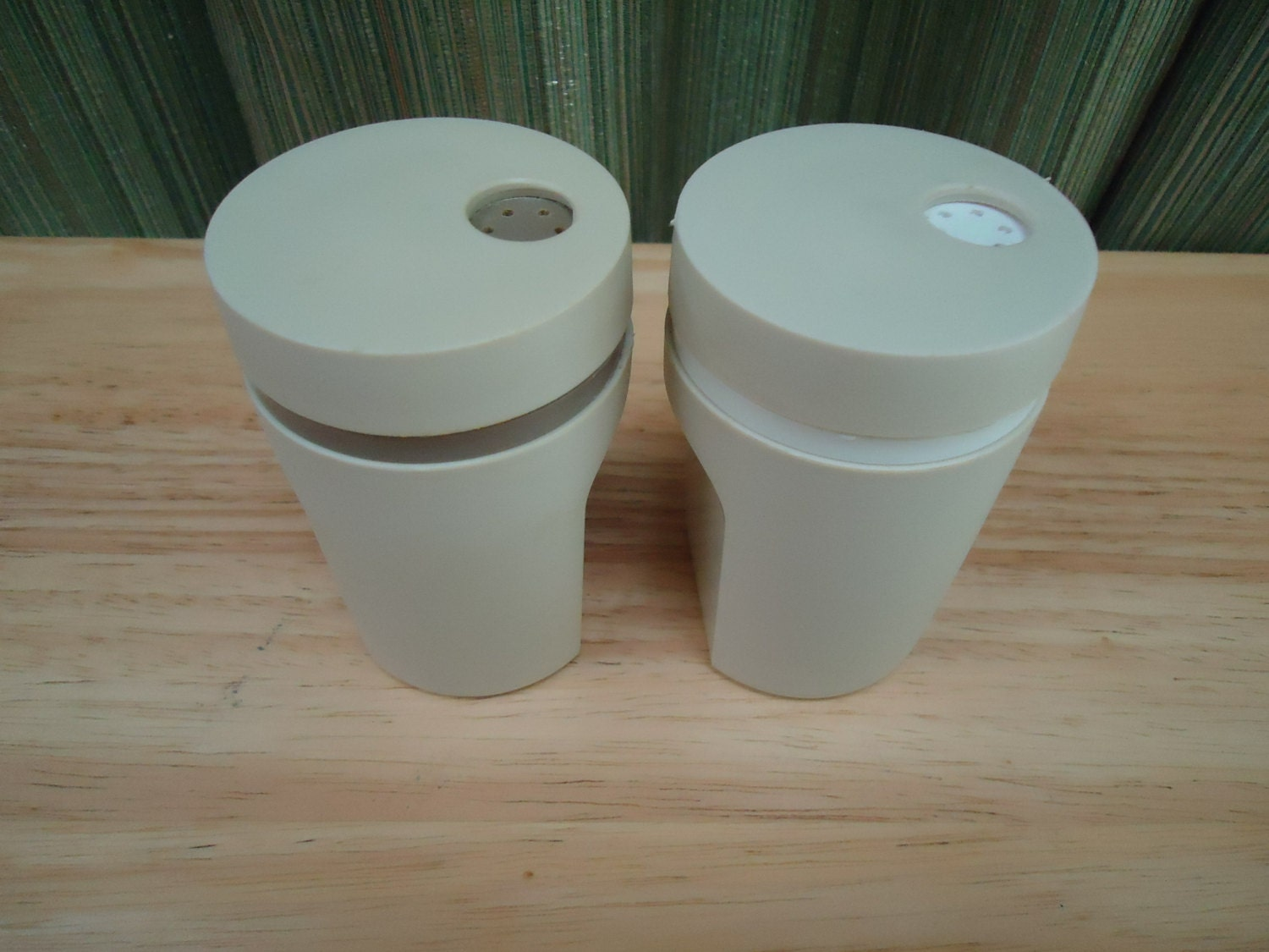 Vintage tupperware salt and pepper shakers by softtothetouch for Vintage tupperware salt and pepper shakers