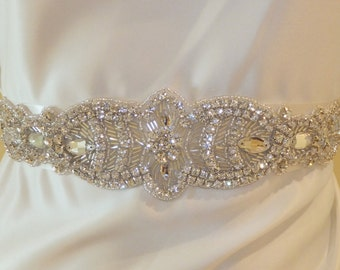 On SALE, Crystal Wedding Belt, NATASHA, Bridal Sash, Wedding Sash, Crystal Bridal Sash, Bridal Belt