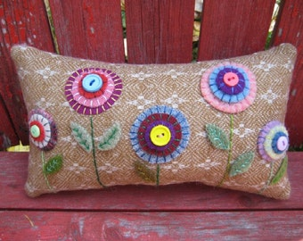 Small Penny Rug Pillow