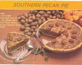 Vintage Florida Postcard - Southern Pecan Pie Recipe