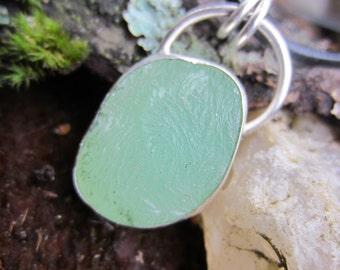Prehnite Pale Green Stone Necklace