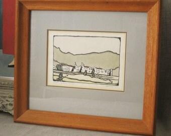 Fine Art Print , Etching , Hand Colored , Fine Art Etching , Paul Havlicec , Original Etching , Fine Art , Art , Fine Art Prints , Framed