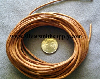 15 feet 2mm Natural Leather Thong, Beading lace, necklace cord leather cord M045