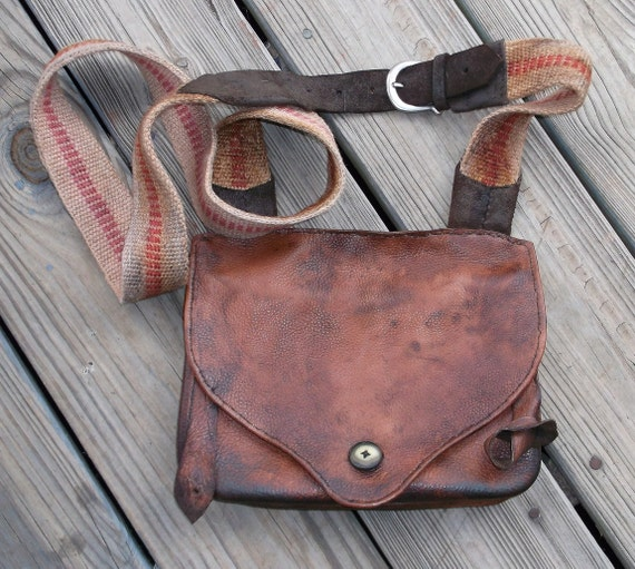 Double Pouch Mountain Man Possibles Bag with Powder Horn Straps