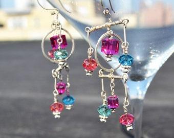 colourful mobile earrings!