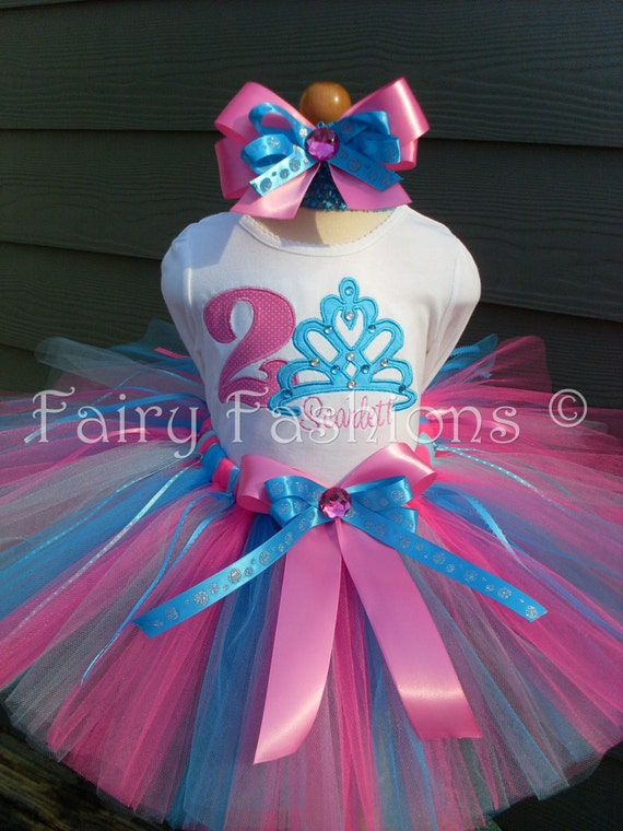 Custom Tutus...TIARA  SPARKLE..., birthday, tutu set, size 3,6,9,12,18,24 months and 2T,3T,4T,5T,6T years,costume, photo prop, dress up