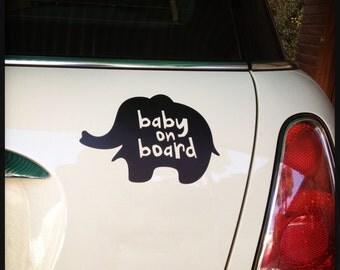 Baby-on-Board Bumper Sticker (black)