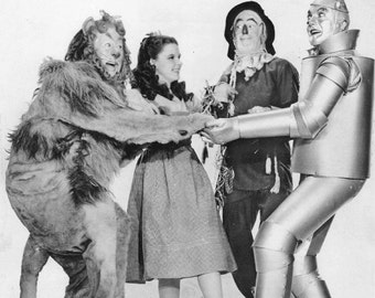 The Wizard of Oz vintage image The Cowardly Lion Tin Man Scarecrow Dorothy