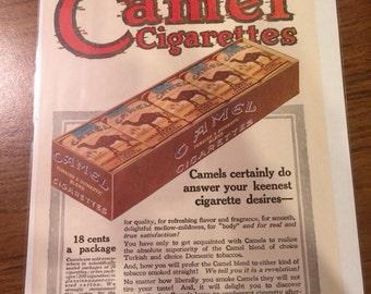 1919 camel cigarettes print ad graphics