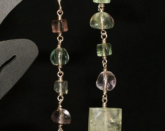 Flourite and Prehnite Shoulder Dusters