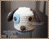 Puppy Hat Crochet Pattern, Dog Beanie, LOGAN and LOLA PUPPY - pdf 113