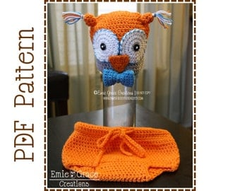 Crochet Owl Hat and Diaper Cover Patterns, OLIVIA and OLIVANDER - pdf 131, 713