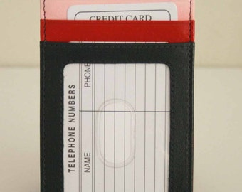 Genuine Soft Leather Card Wallet, Rare,  hard to find, Super Cute