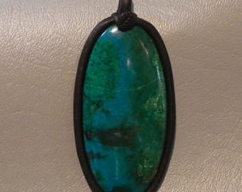 Arizona Chrysocolla Pendant   1191