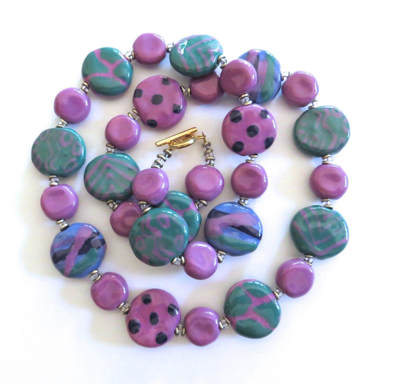 Ceramic Bead Beads: Kazuri Bead Necklace Ceramic Necklace Fair Trade Beads