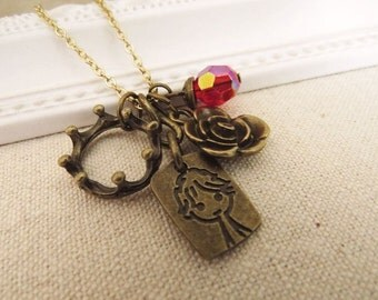 Little Prince. a charm necklace