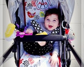Personalized Reversible Stroller Pad Liner  Uppababy Vista - Uppababy Cruz  - - - Made to Order - - -