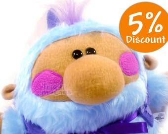 Frankie Blue Baby plush. A cute baby Triquimoche. Art toy.