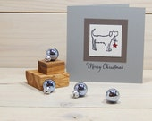 Charity Stamp Dog Star Olive Wood Stamp