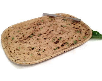 Appetizer Platter - Earth Tone Brown and Green