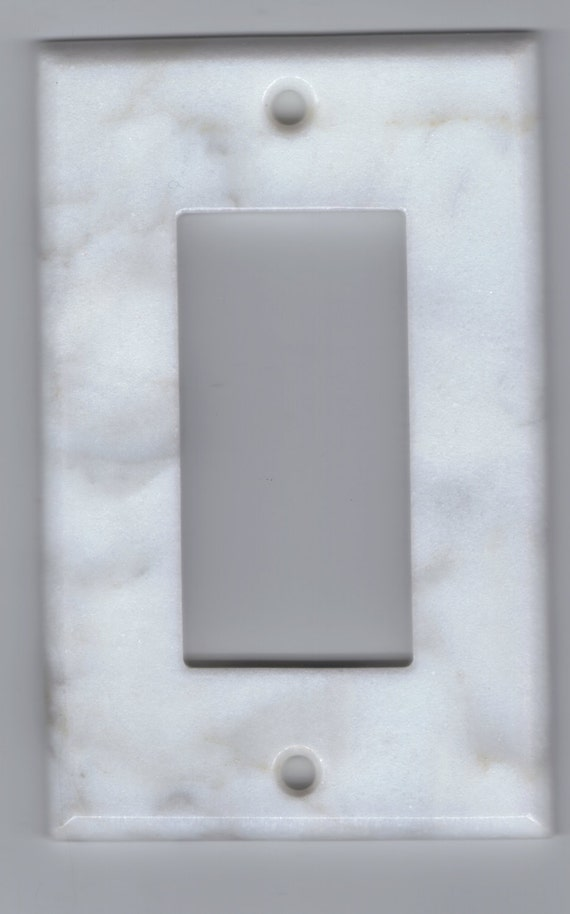 Wall Plate Light Cover : Marble Switchplate Switch Plate Stone Light Wall Cover Rocker