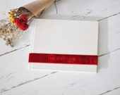 Custom Wedding Scrap Book Guest Book, a Lovely Keepsake Guestbook - Velvet Sash design by ClaireMagnolia