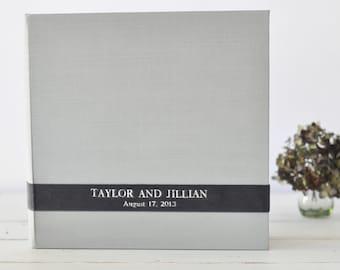 Custom Photo Book, a Meaningful Personalized Photo Album - Velvet Sash design by Claire Magnolia