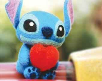 DIY handmade felt wool Stitch --- English kit package (English Version)