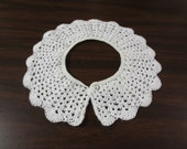 Girls Hand Crochet Collar with Cluster Design with Scalloped Edging