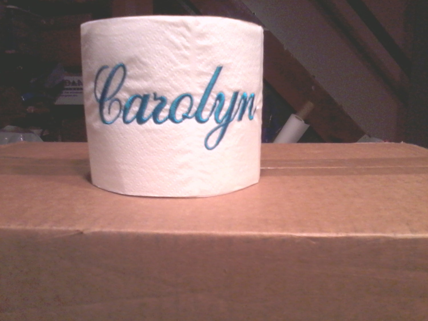 Embroidered personalized toilet paper with name or monogram for Design your own toilet paper