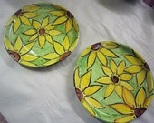 Reserved for Kamielle - set of bowls and plates in Sunflower pattern