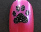 Paw Print Toe nail / finger nail decals / stickers / art pedicure Tattoo dog bulldog
