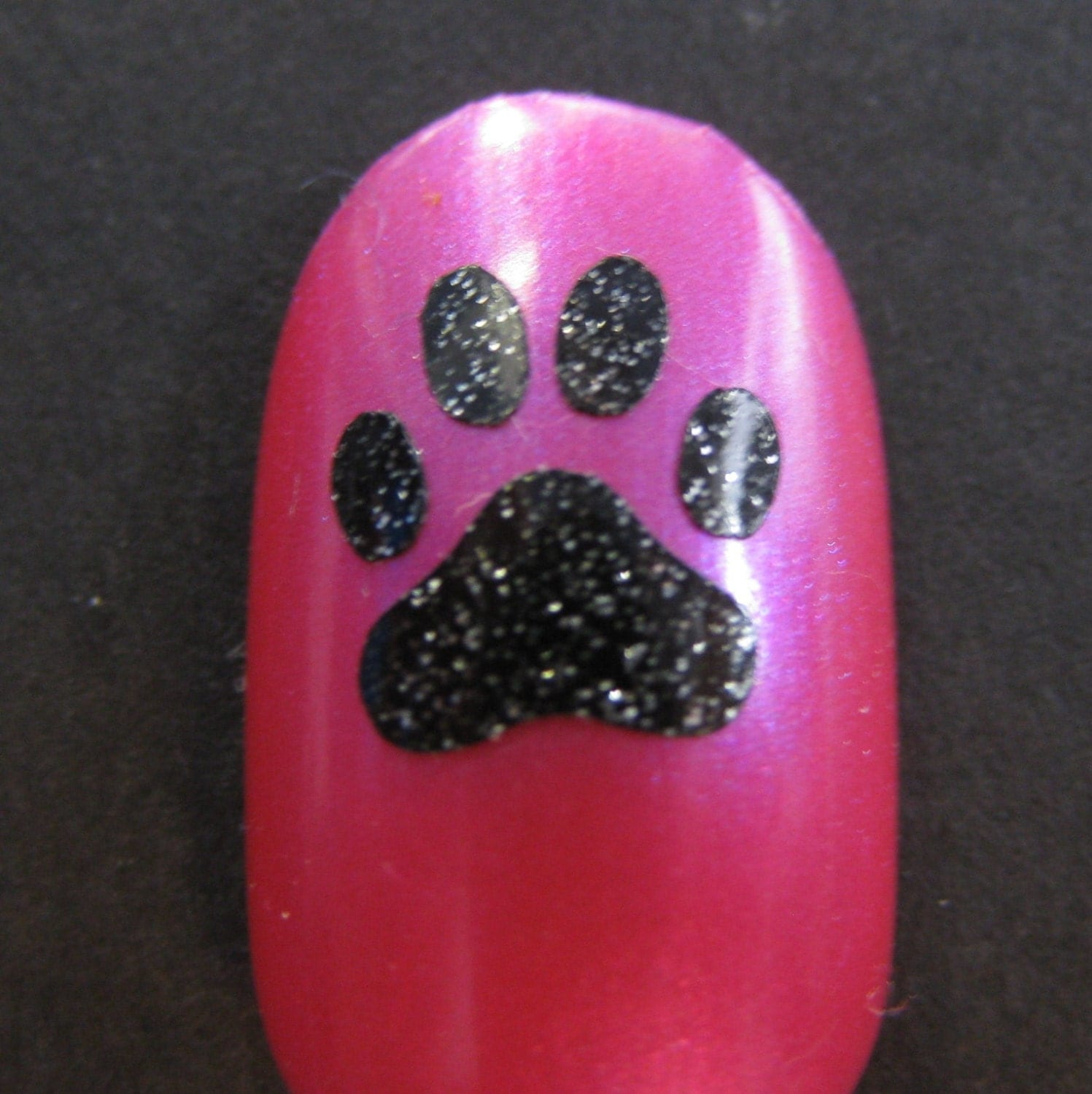🔎zoom - Paw Print Toe Nail / Finger Nail Decals / Stickers / Art