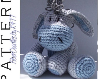 INSTANT DOWNLOAD : KISS Series - Sad Donkey Crochet Pattern
