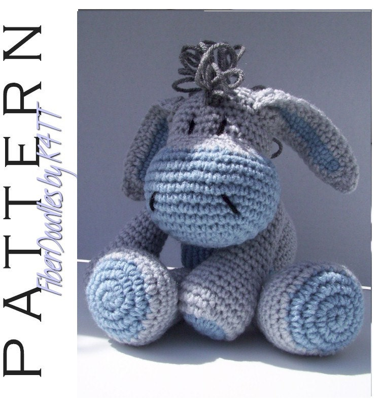 Free Dk Baby Knitting Patterns : INSTANT DOWNLOAD : KISS Series Sad Donkey Crochet Pattern