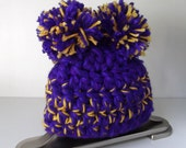 Minnesota...VIKINGS... NFL Baby Girl or Boy...0 to 3 Month size...Purple & Yellow...Adorable Hat...Perfect Gift