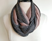 Grey Sequin with Mauve Tuesday Infinity Scarf - tuesdayshop