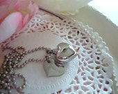 Stainless Steel Cremation Urn Love Heart Necklace With Hand Stamped Name Tag Keep the Memory of a Loved One or Cherished Pet