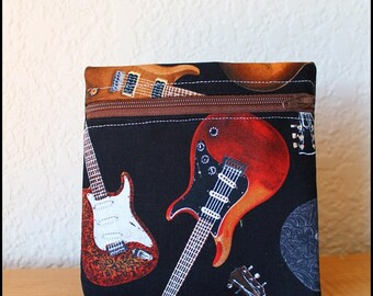 Guitars Change Purse with Canvas lining