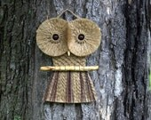 Vintage style. Macrame Owl Wall Hanging, made with jute and Lake Superior driftwood.