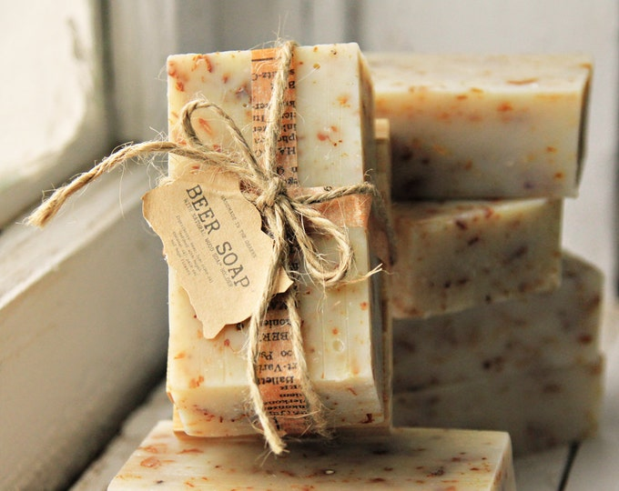 BEER SOAP Made In The OZARKS | Rustic Wedding, Groomsman Gift, Housewarming Gift, Father's Day Gift, Unisex Soap, Country Bathroom Decor