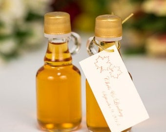 maple syrup wedding favors case of 24 40ml gallone glass bottle