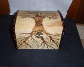 Small tree of life woodburn box