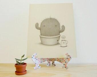 Cactus Monster - Giclée Print