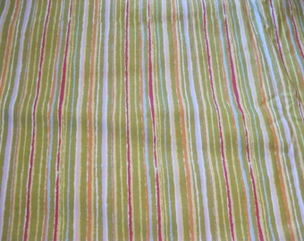 Pink, Blue, Green Stripe Fabric, Stripes, 100% cotton, Hobby Lobby