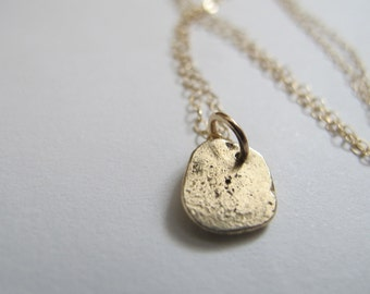 solid 14k gold necklace